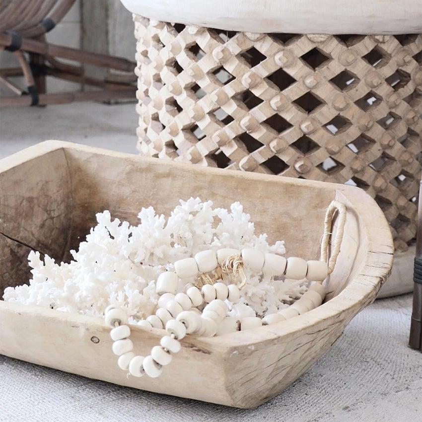 Image of Rustic Elm Dough Bowl