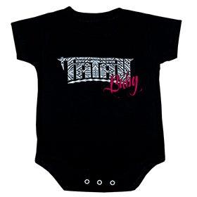 Image of Tatau Baby Onesie Maori Black/RedPink