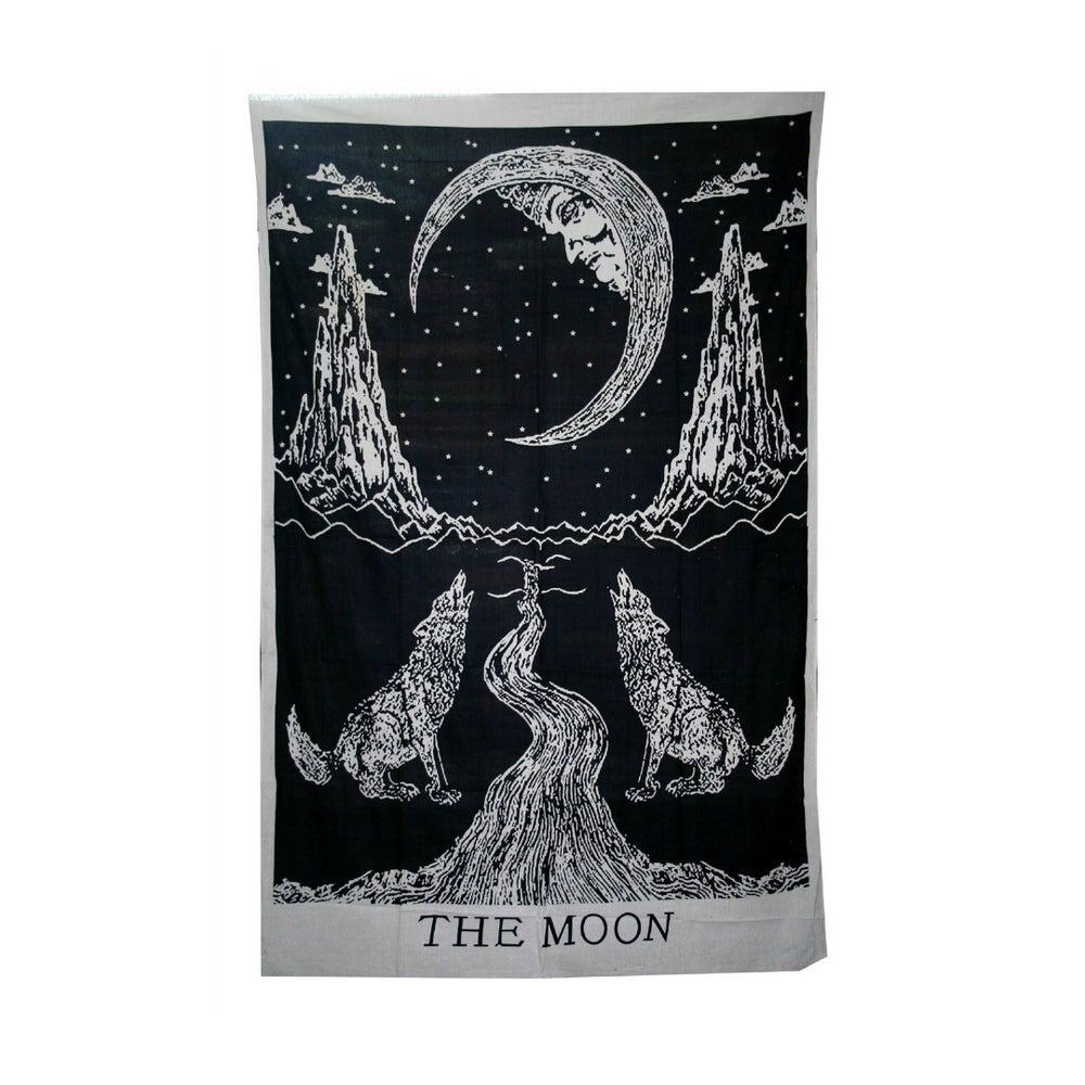 Image of 'The Moon' Tarot Card Throw