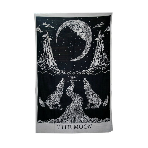 Image of 'The Moon' Tarot Card Throw