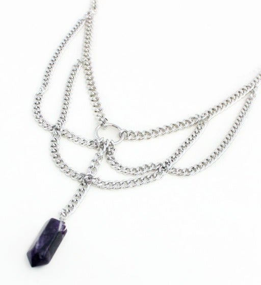 Image of Amethyst Chain Collar