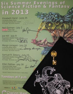 Image of Signed Set: 2013 Clarion West Writers Workshop poster, t-shirt & Biblio Key - ONLY ONE!