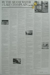 Image of Signed Set: By The Silver Water of Lake Champlain broadside & Biblio Key - SOLD OUT