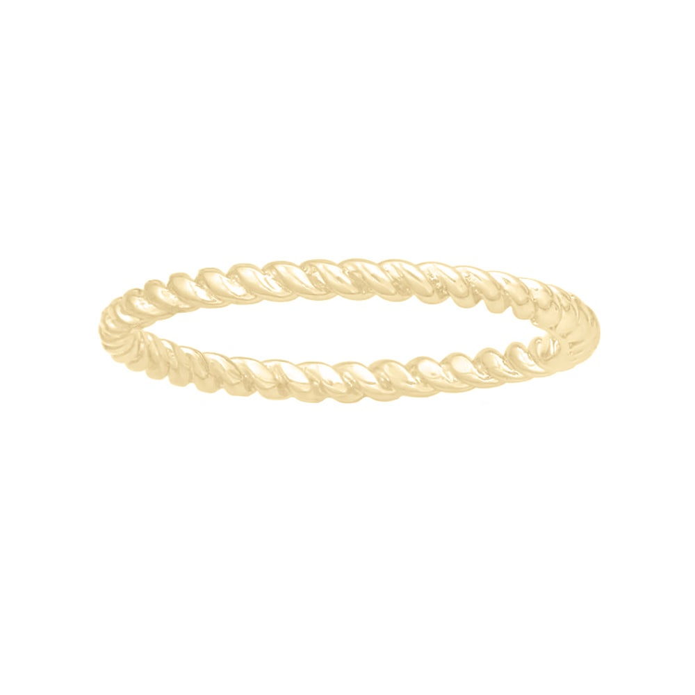 Image of Nautical Rope Ring in Gold