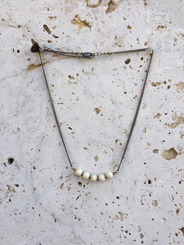 Image of Ras du cou simple en pierres WILD