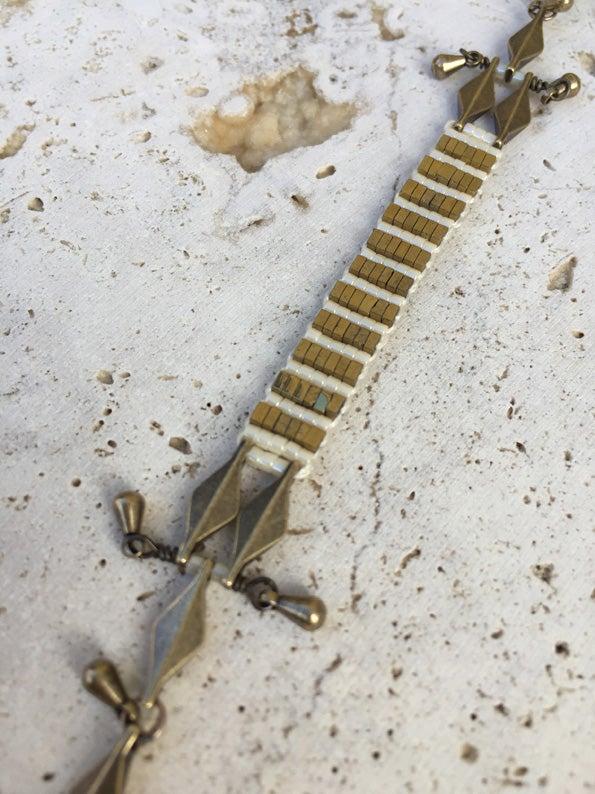 Image of Bracelet médium tissé WILD