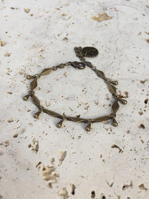 Image of Bracelet chaîne gouttes WILD