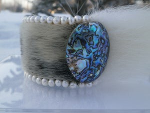 Image of Indigenous Princess White Pearl and Polar Bear