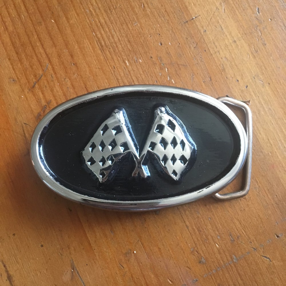 Image of Checkered Flag Buckle in stainless