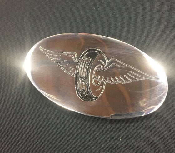 Image of Stainless winged wheel buckle