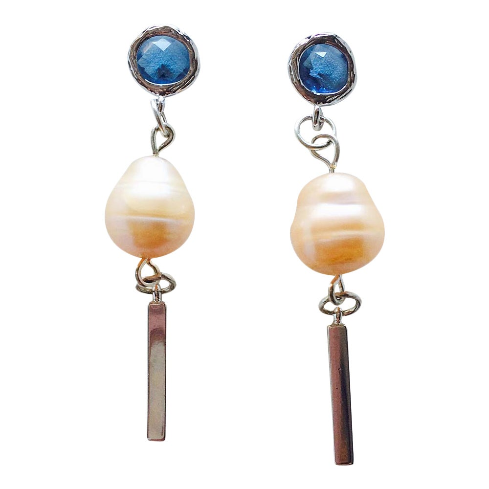 Image of OCEAN & MOONLIGHT PEARL EARRINGS