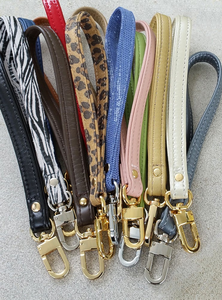 Image of Free Accessory Wrist Strap Promotion - Genuine Leather or Suede - Choose Your Color & Hook Finish