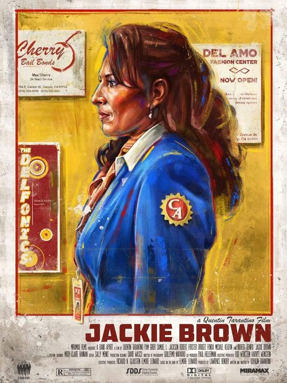 Image of Jackie Brown 1/1 embellished prints