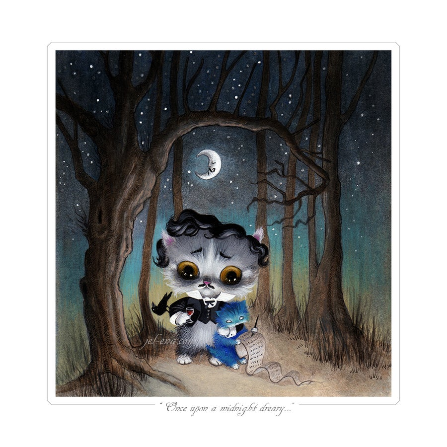 "Image of ""Once upon a midnight dreary..."" Edgar Allan Poe, Limited Edition Print"