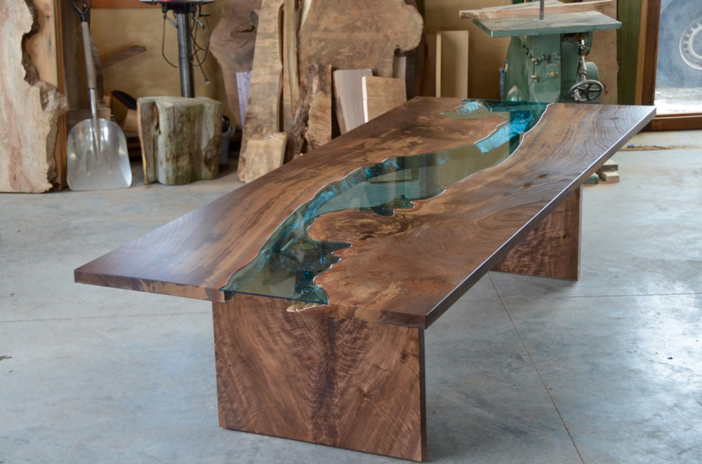 Claro Walnut River Table Greg Klassen