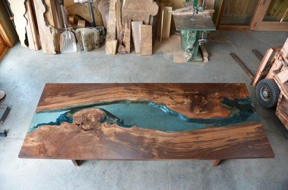 Image of claro walnut river table
