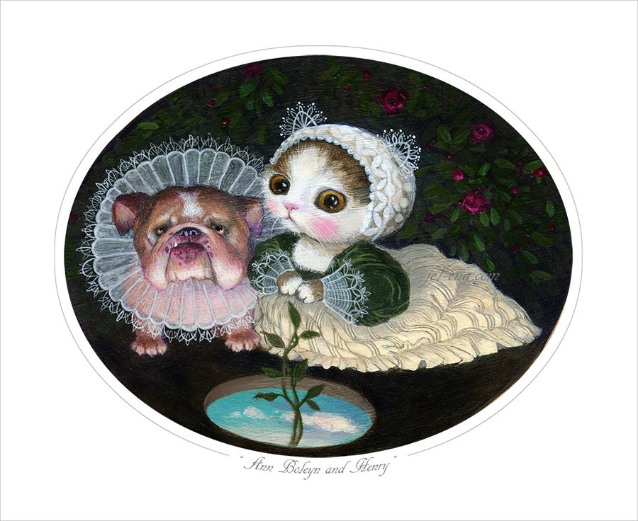 "Image of ""Ann Boleyn and Henry"" Limited Edition Print"