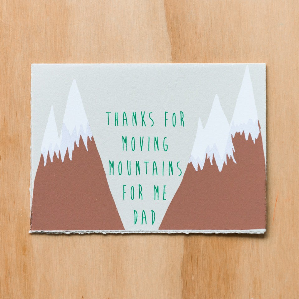 Image of Thanks for Moving Mountains Dad