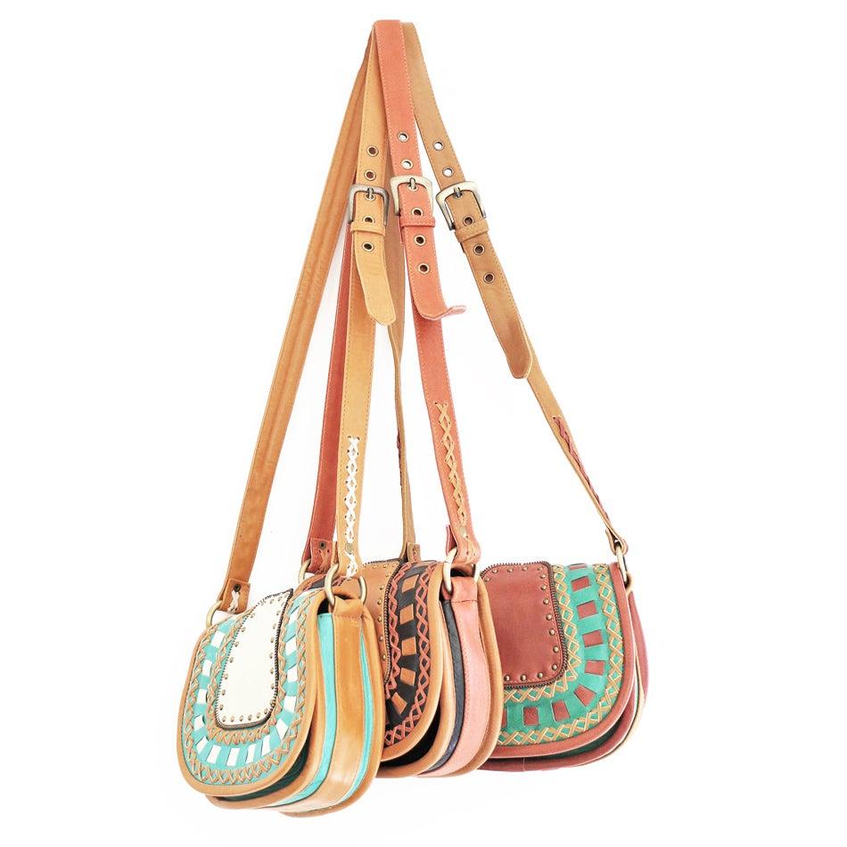 Image of Leather Saddle Bag