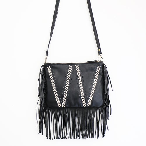 Image of Gypster Fringe Leather Bag