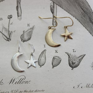Image of moon & star earrings