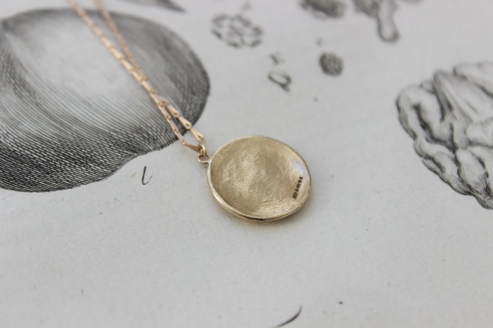 Image of full moon necklace