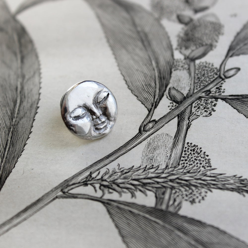 Image of *NEW* full moon lapel pin