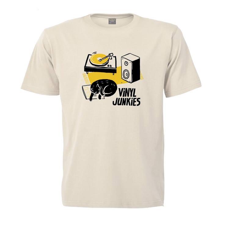 Image of Vinyl Junkies Cat T-Shirt