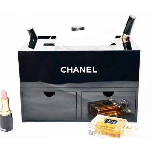 Image of Chanel Beauty VIP Gift - JUMBO Makeup Cosmetic Storage Organiser/Tissue Holder