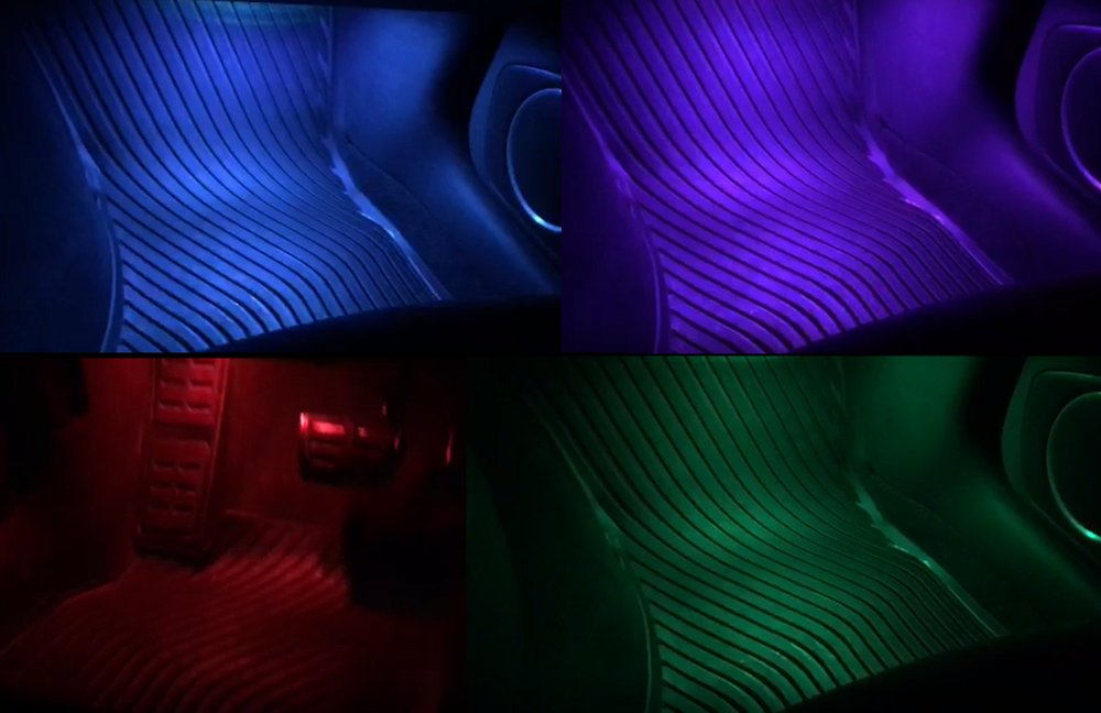 Image of Remote Control Color Changing Footwell LEDs Fits: All Audi Models