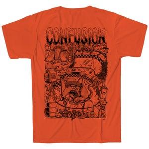 Image of Confusion - BACKYARD DIY t-shirt  [orange]