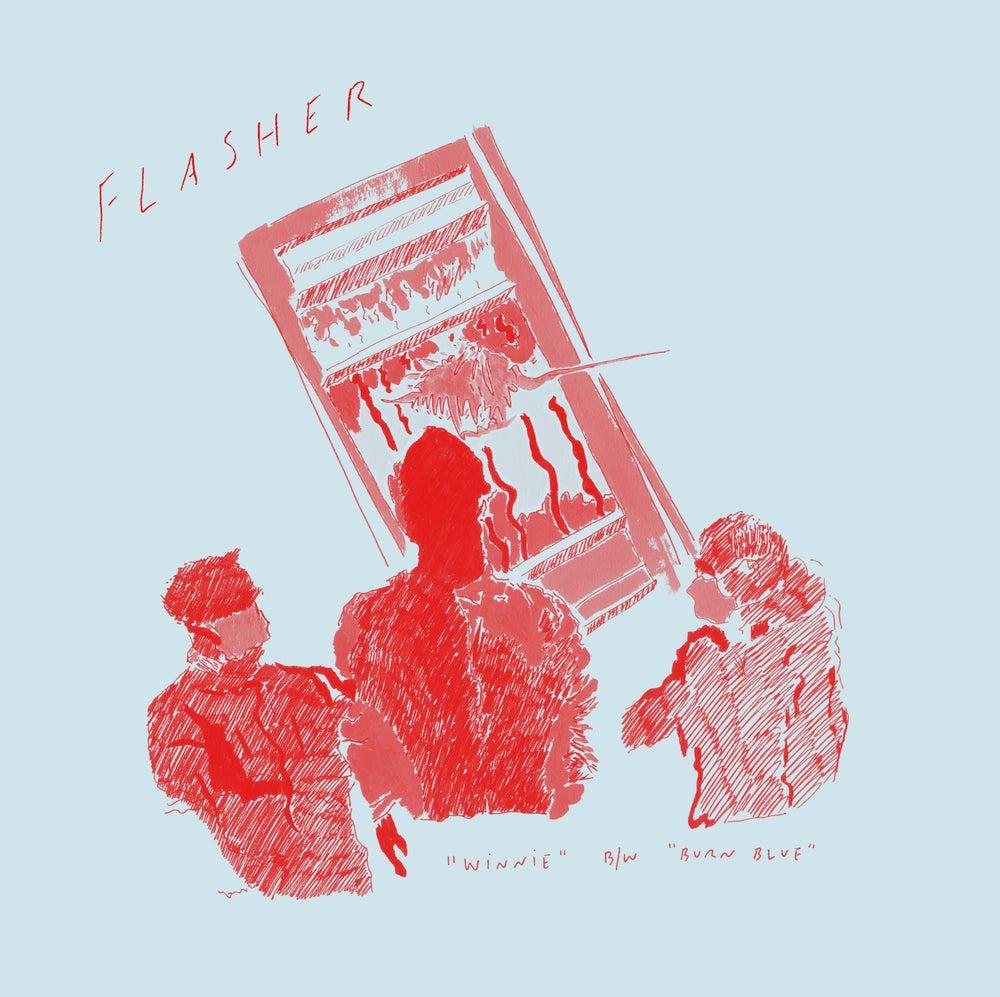 """Image of *PREORDER* Flasher - Winnie b/w Burn Blue 7"""" (SPR-023)"""