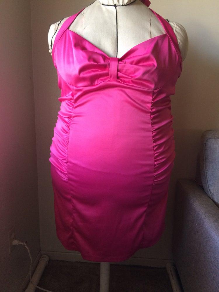 Image of Barbie Pink Halter Dress
