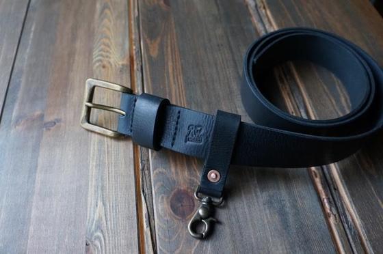 Image of ENGINEER Leather Belt - Black