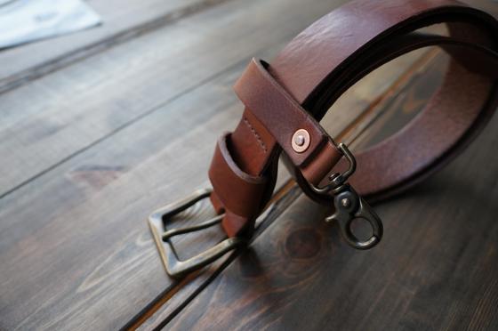 Image of ENGINEER Leather Belt - Brown