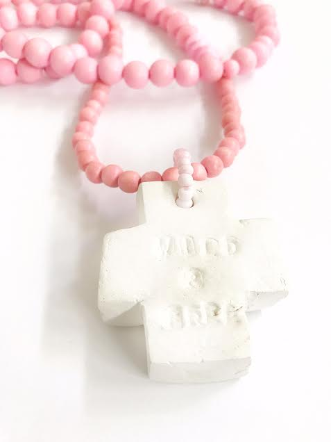 Image of PINK IMPERFECT CROSS
