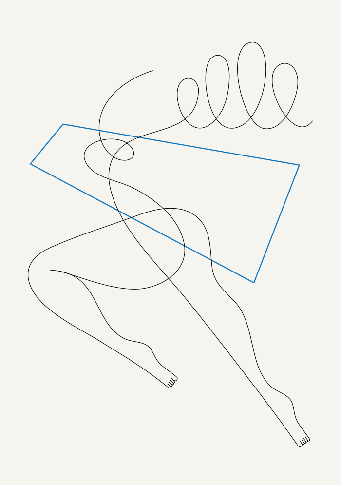 Image of Dancer and shape 2 - 30 x 42 cm