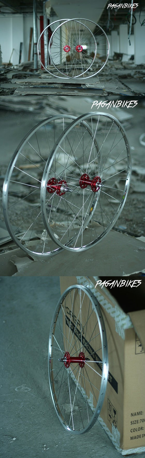 Image of PAGAN FIXED GEAR TRACK PISTA CUMS Wheelset