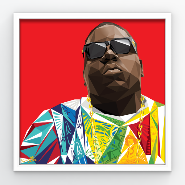 "Image of JCRo - Biggie (red) 20"" print"