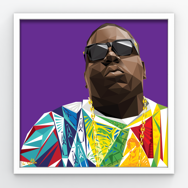 "Image of JCRo - Biggie (purple) 20"" print"