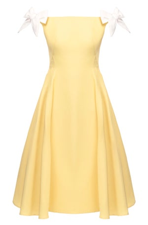 Veronica Dress (Yellow & Blue)  - Melissa Bui
