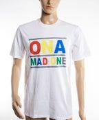 Image of The 'OnaMadOne' Rainbow Tee (White)
