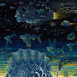 """Image of THE NIGHT TRAWLERS (V-2)  ~ 24"""" X 30""""  LIMITED EDITION PRINT on WOOD"""