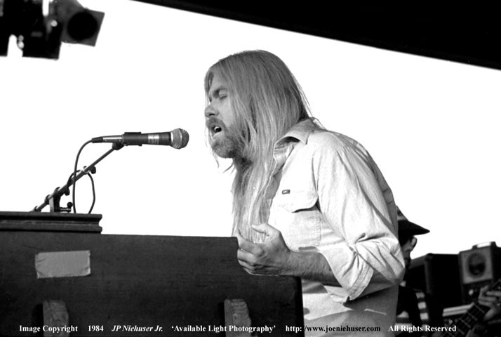 Image of Original 1984 Gregg Allman Limited Edition Fine Art Print