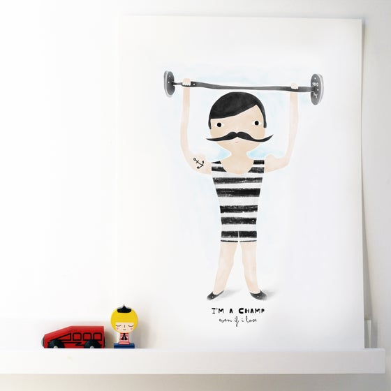 Image of ART PRINT | CHAMP