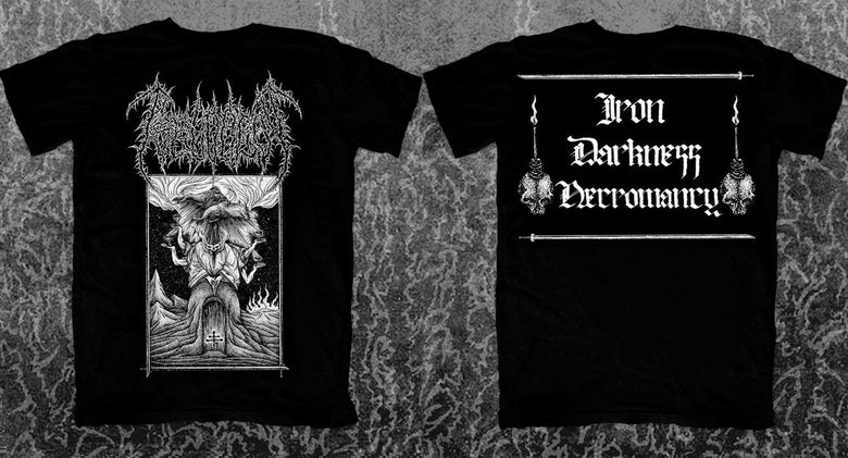 "Image of PSEUDOGOD ""Iron Darkness Necromancy"" T-SHIRT"