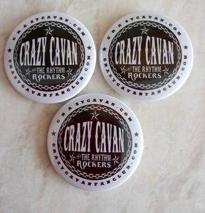 Image of PACK OF 3 CRAZY CAVAN BUTTON BADGES