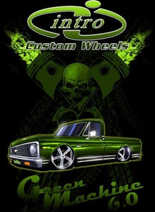 Image of Green Machine Black T-Shirt
