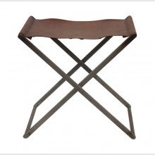 Image of Folding Leather Stool