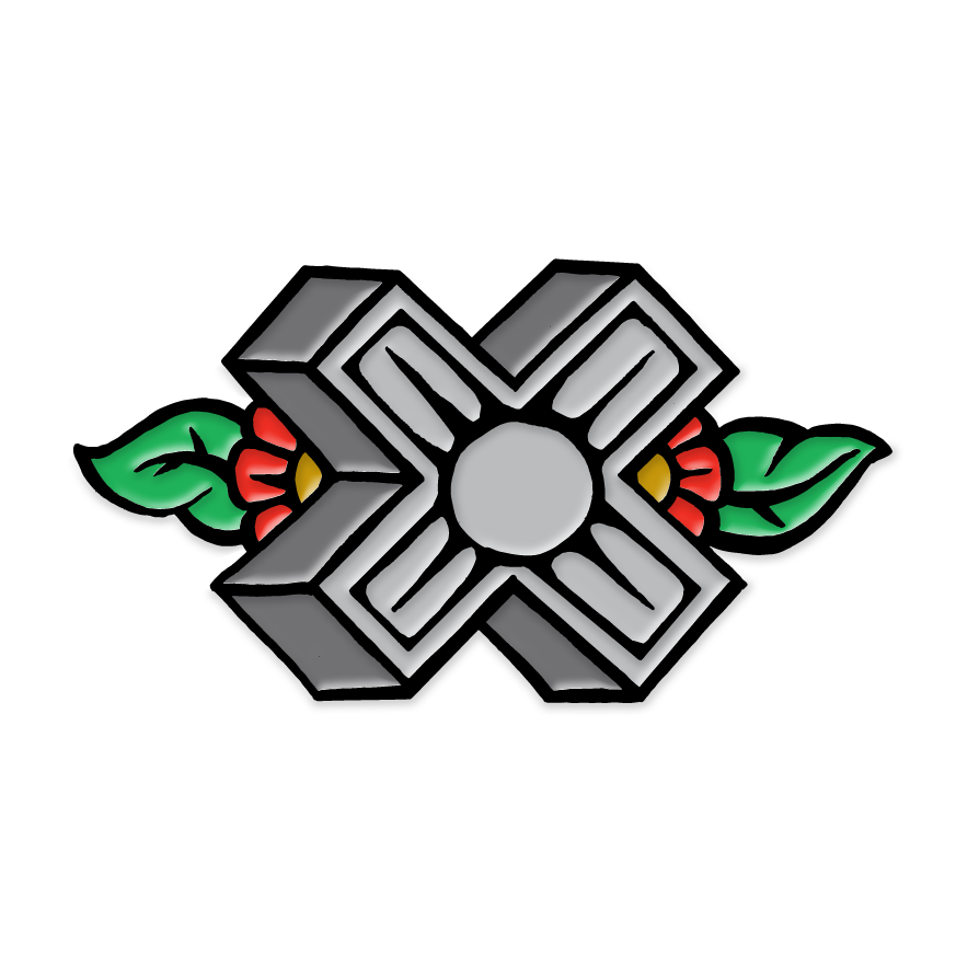 Image of Path Of Resistance - X Enamel Pin
